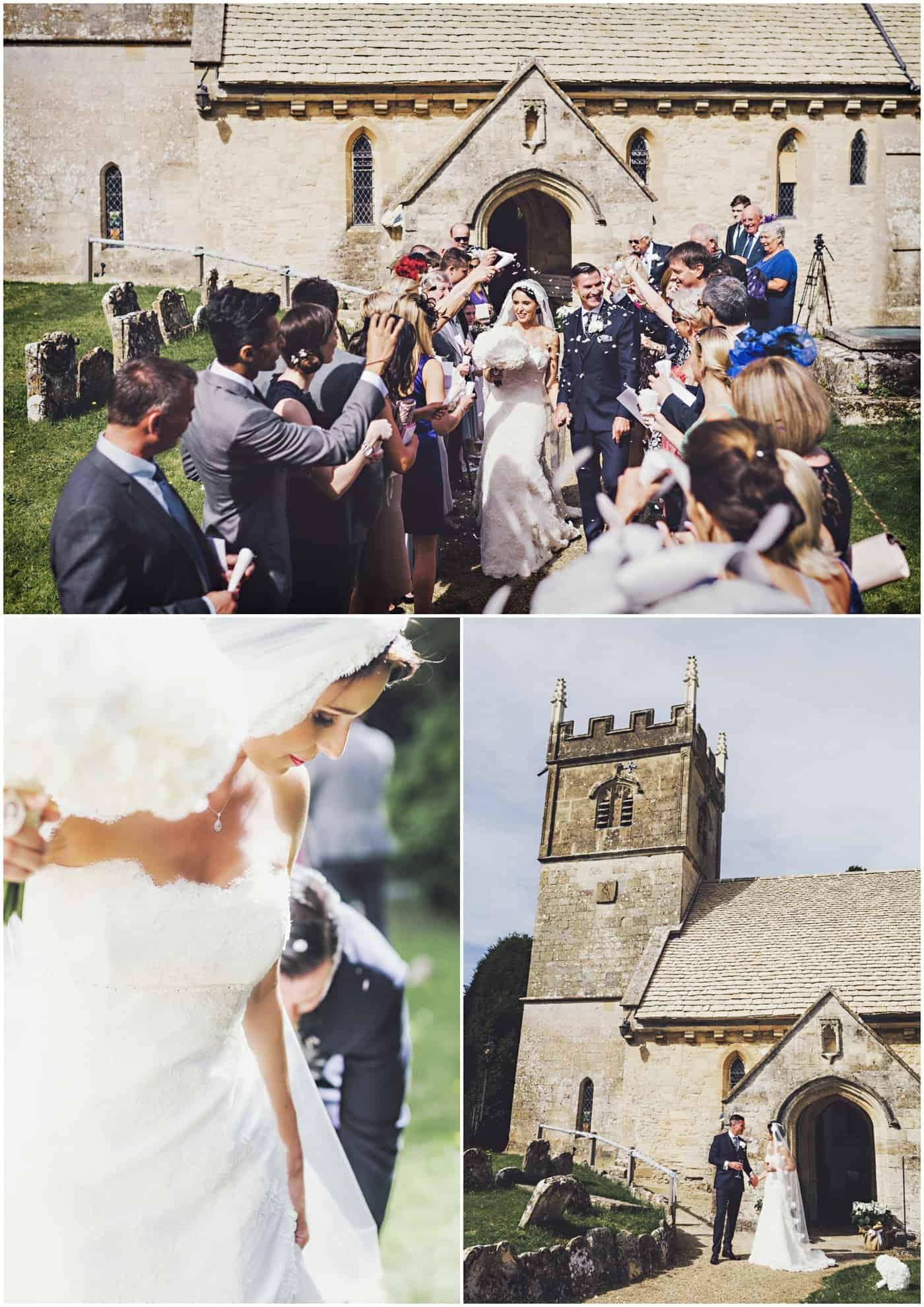 cowley manor church wedding photos