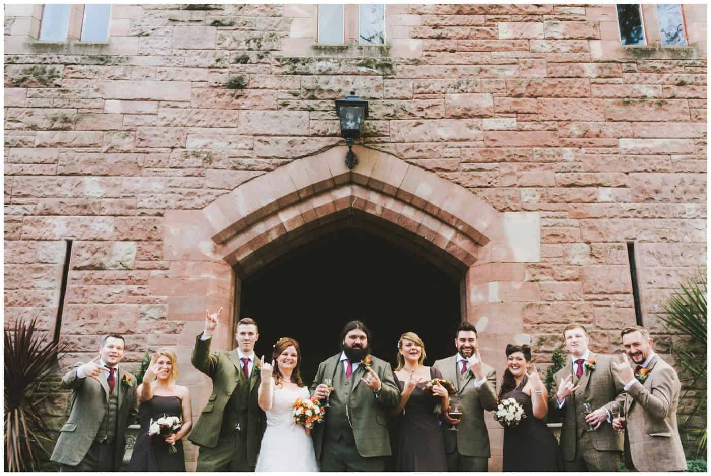 heavy metal wedding at Peckforton Castle