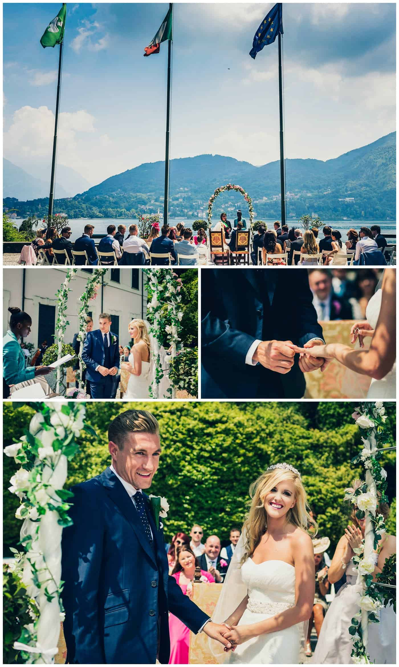Villa Carlotta wedding ceremony