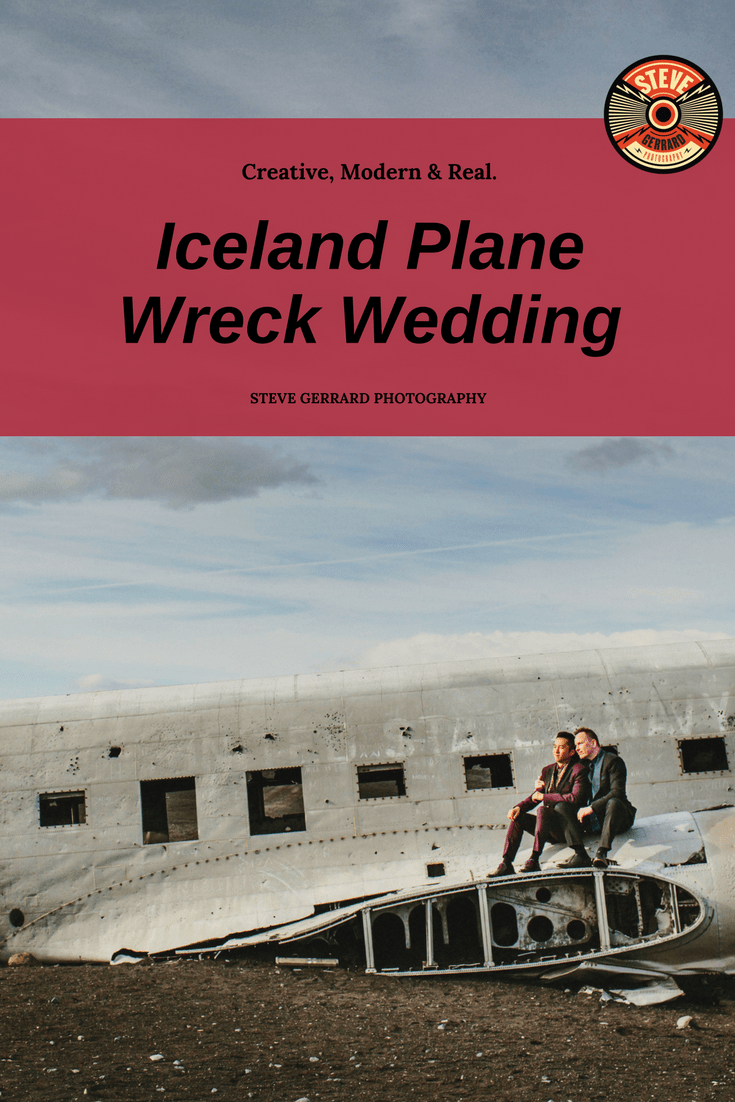 Where do I even start with this wedding_! Nothing prepared me for the epicness of this _wedding adventure_ in Iceland. It's the only wedding EVER to be held at the famous plane wreck. The couple found amazing venues.