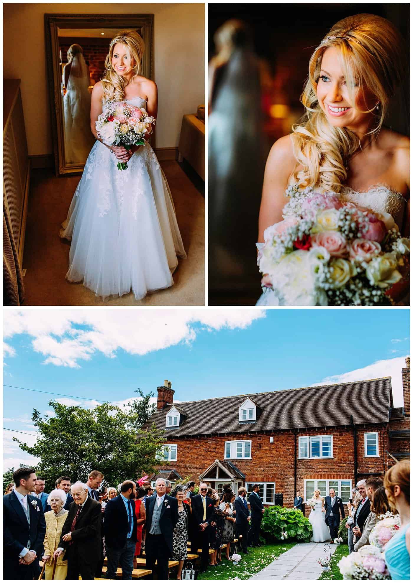 curradine barns outdoor wedding ceremony