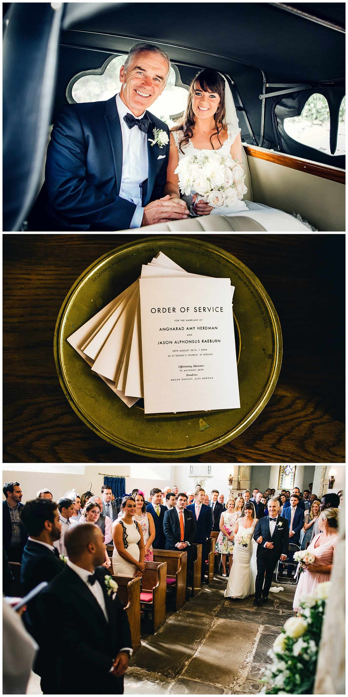 st donats castle church wedding