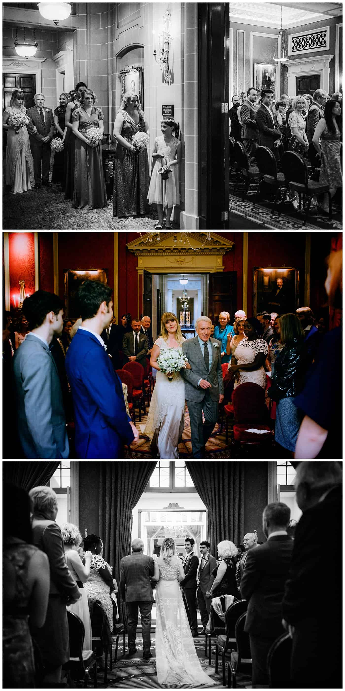 Wedding ceremony at royal automobile club London