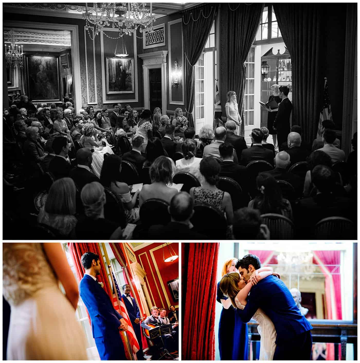 Wedding ceremony at RAC club London
