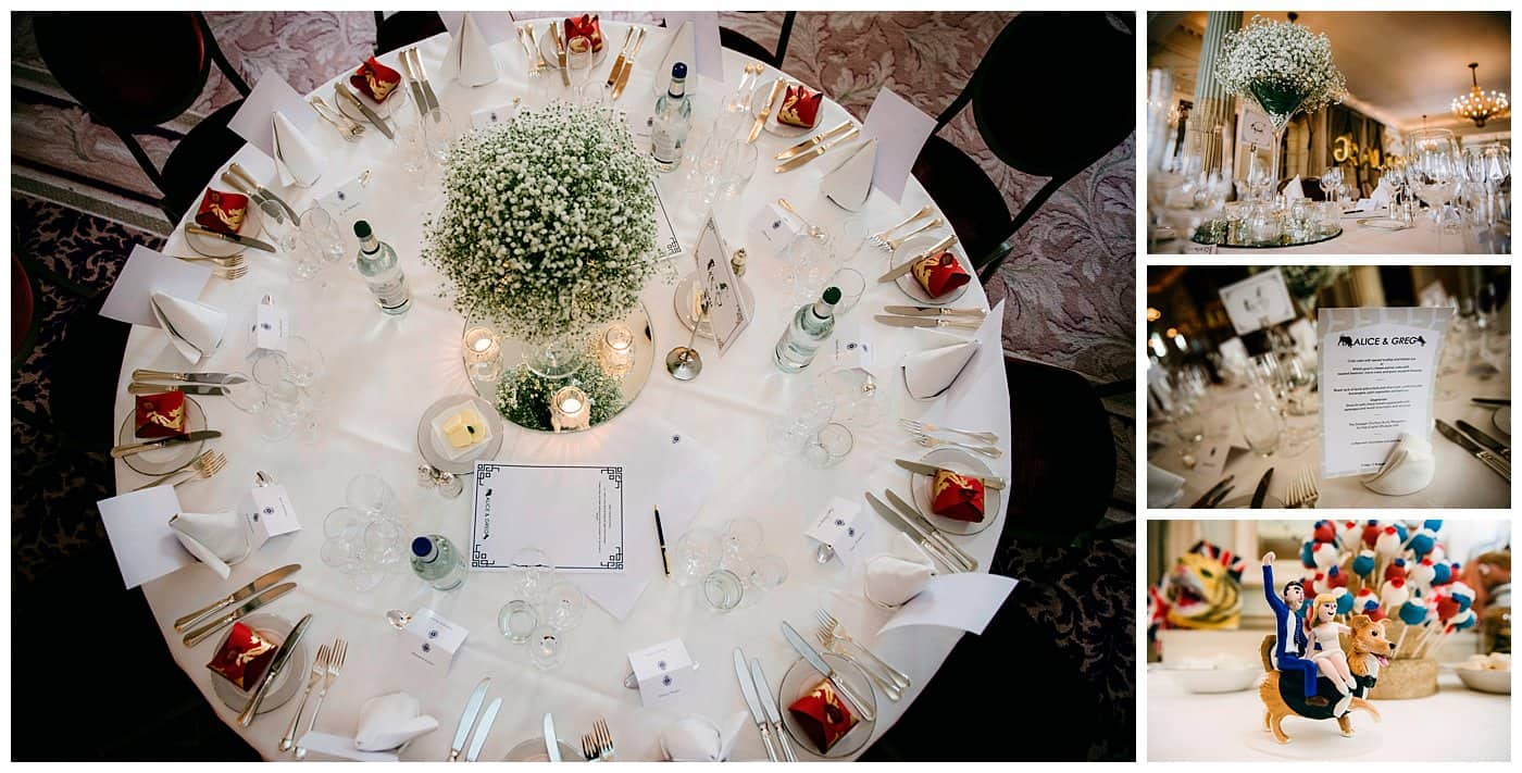 royal automobile club london wedding decor