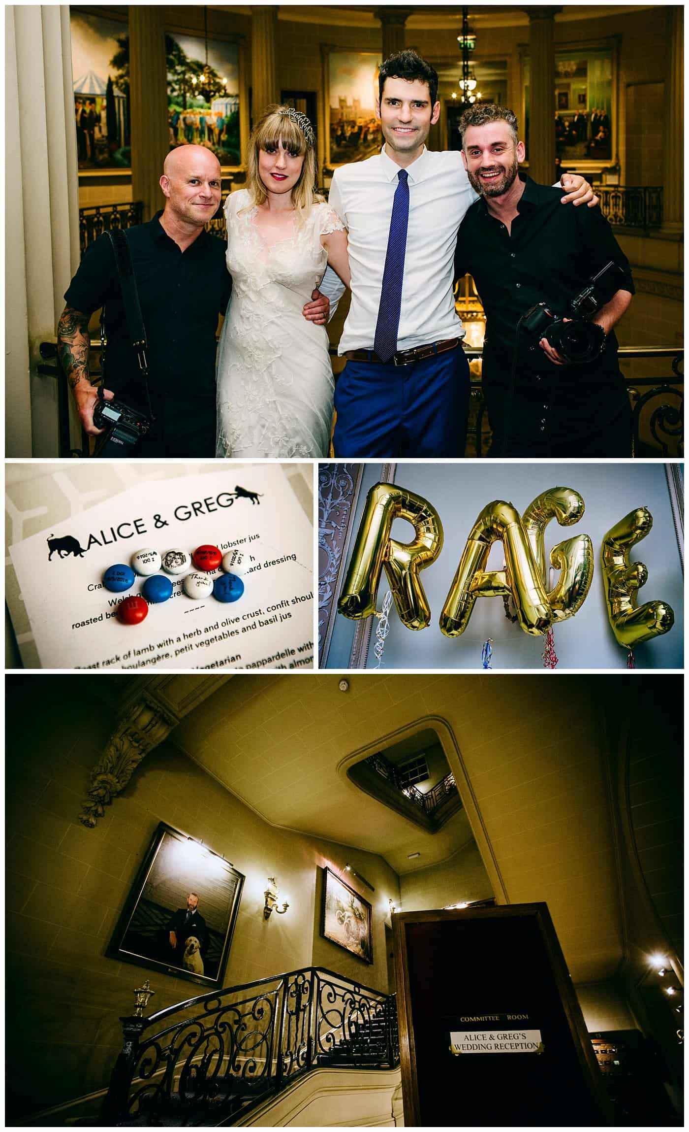 rac club london reportage wedding photography