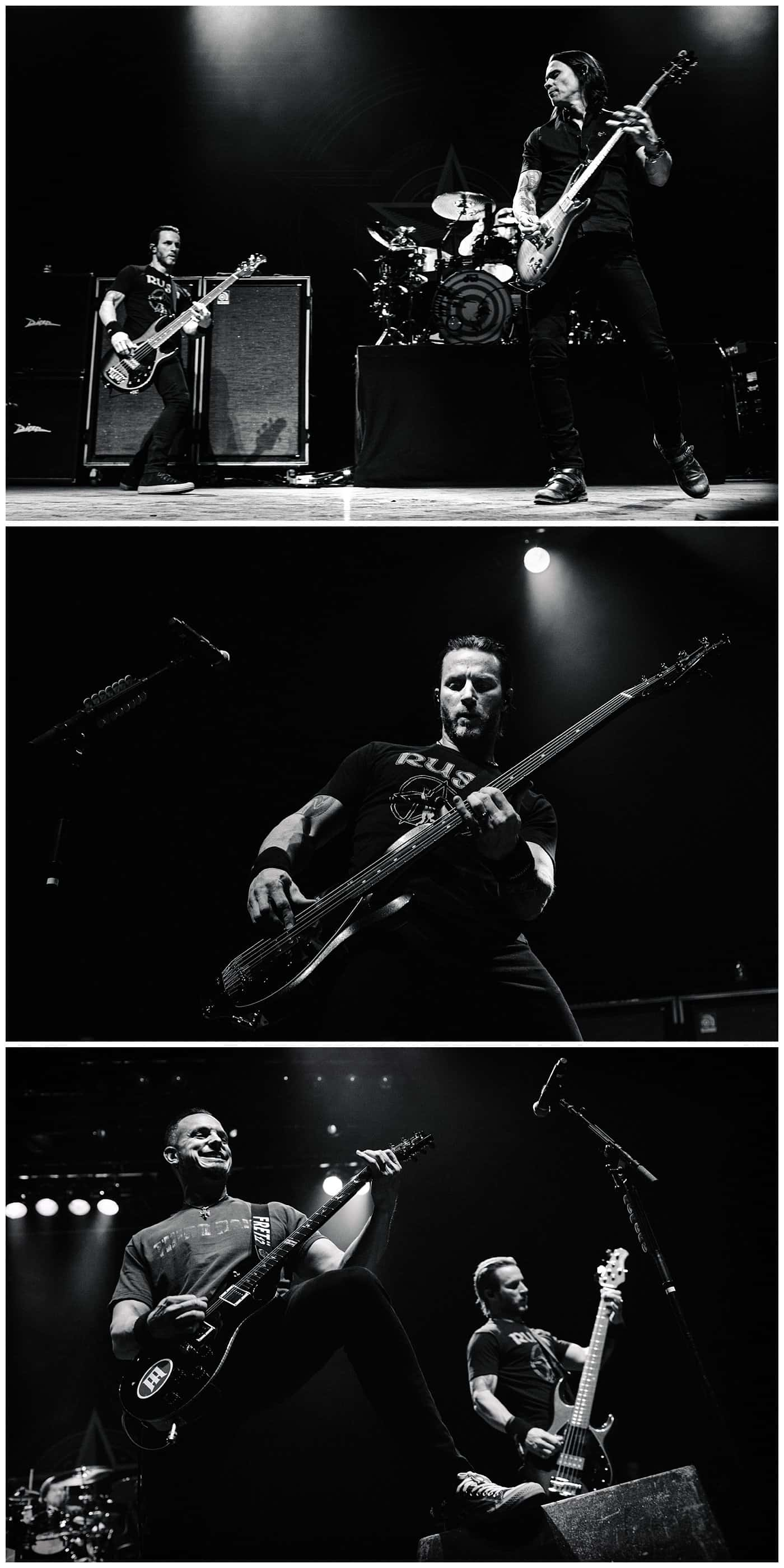 Alter Bridge black & white photos