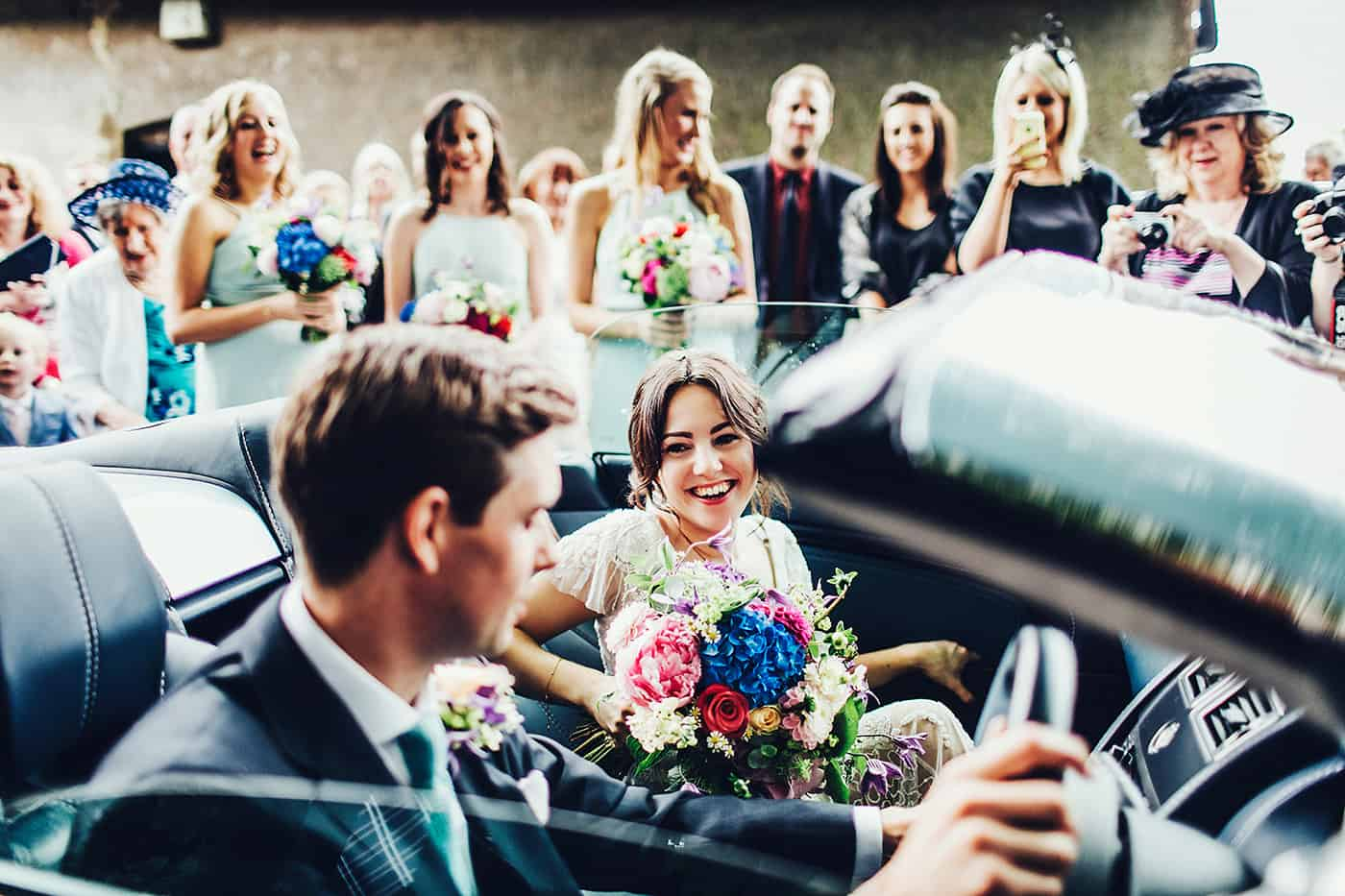 Wedding convertible car