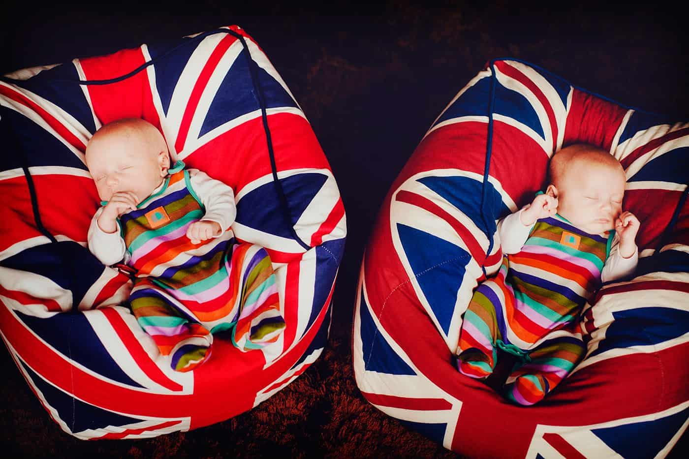 Union Jack twins