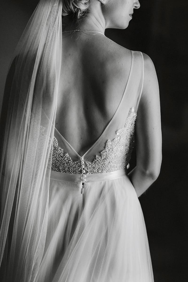 Wedding Dress Black & White