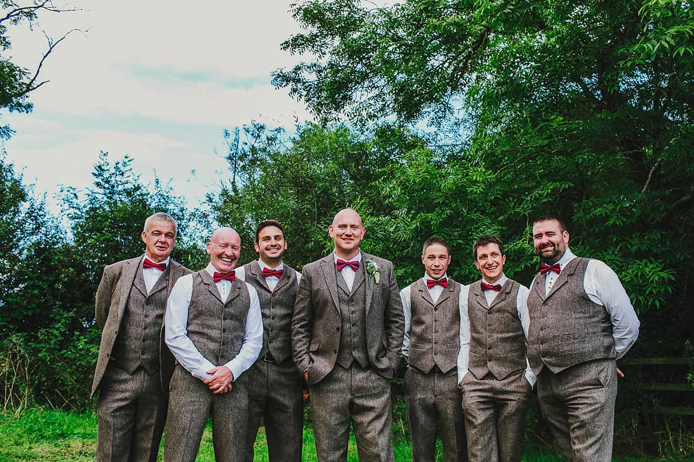 Groomsmen tweed suits