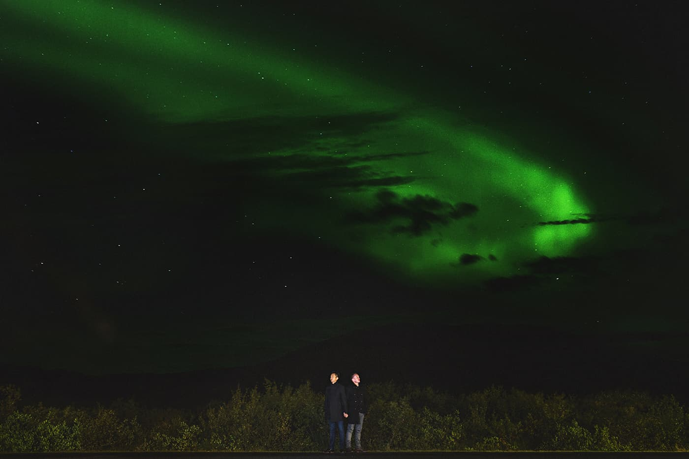 Northern Lights Iceland engagement