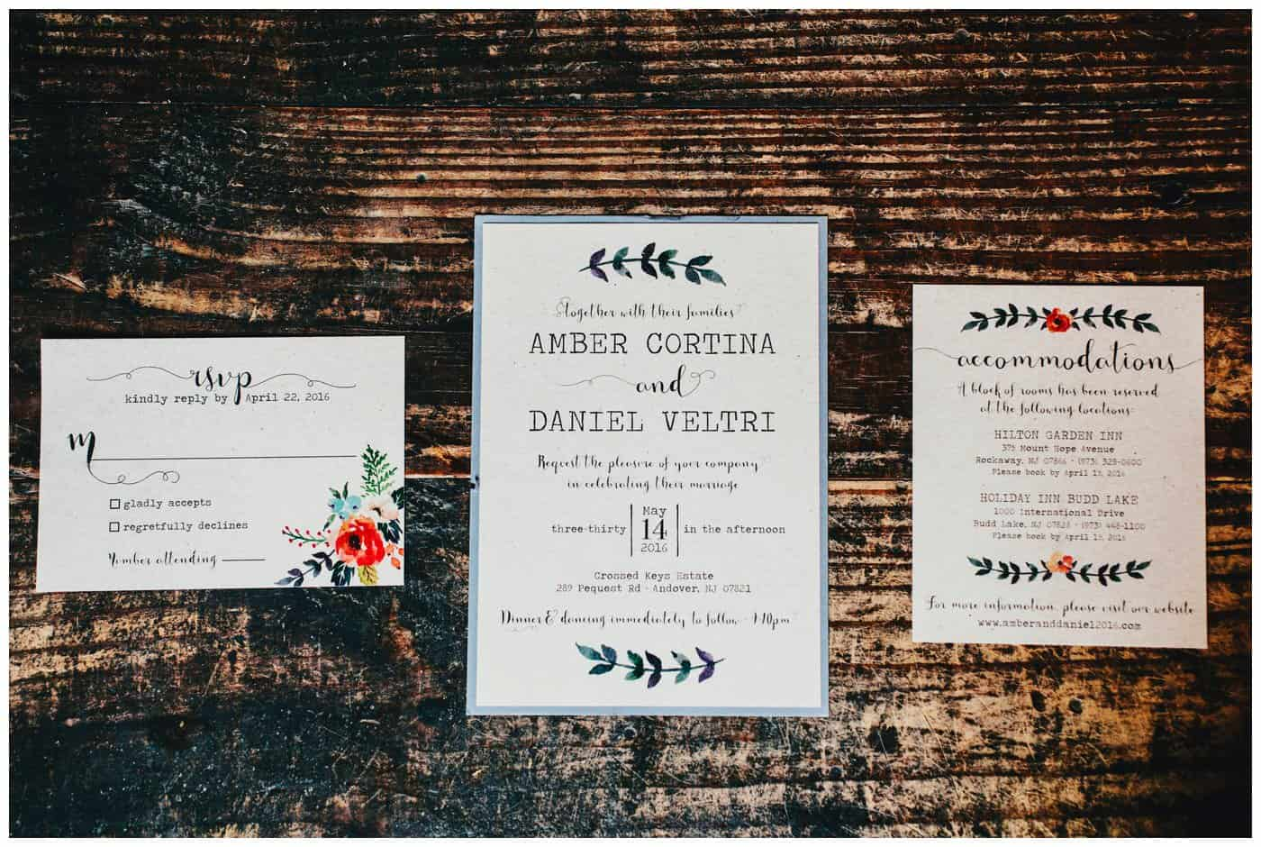 crossed keys wedding invitations