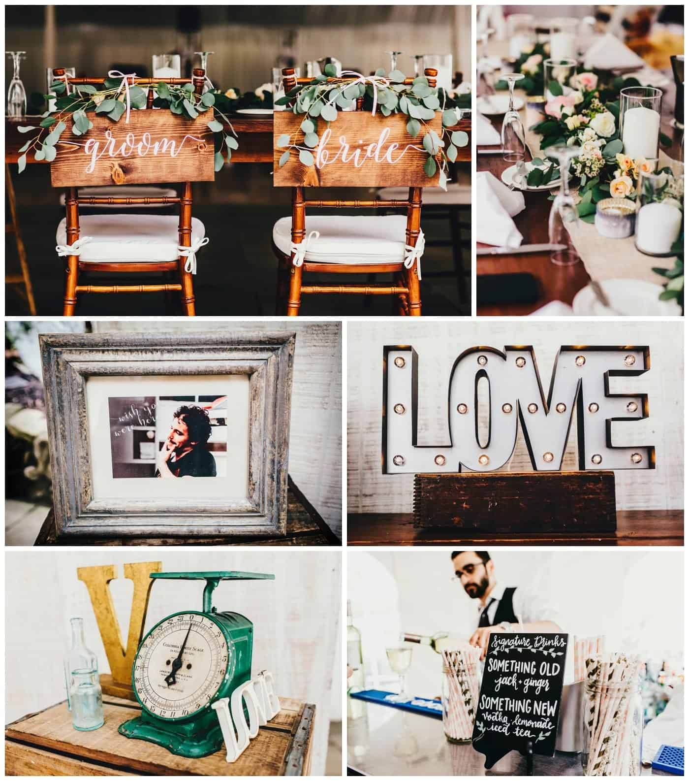 Crossed Keys Estate wedding decor