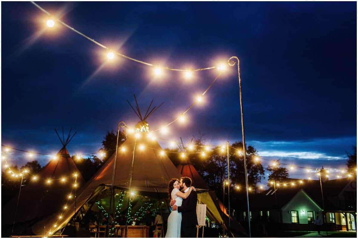 Douai Abbey tipi wedding
