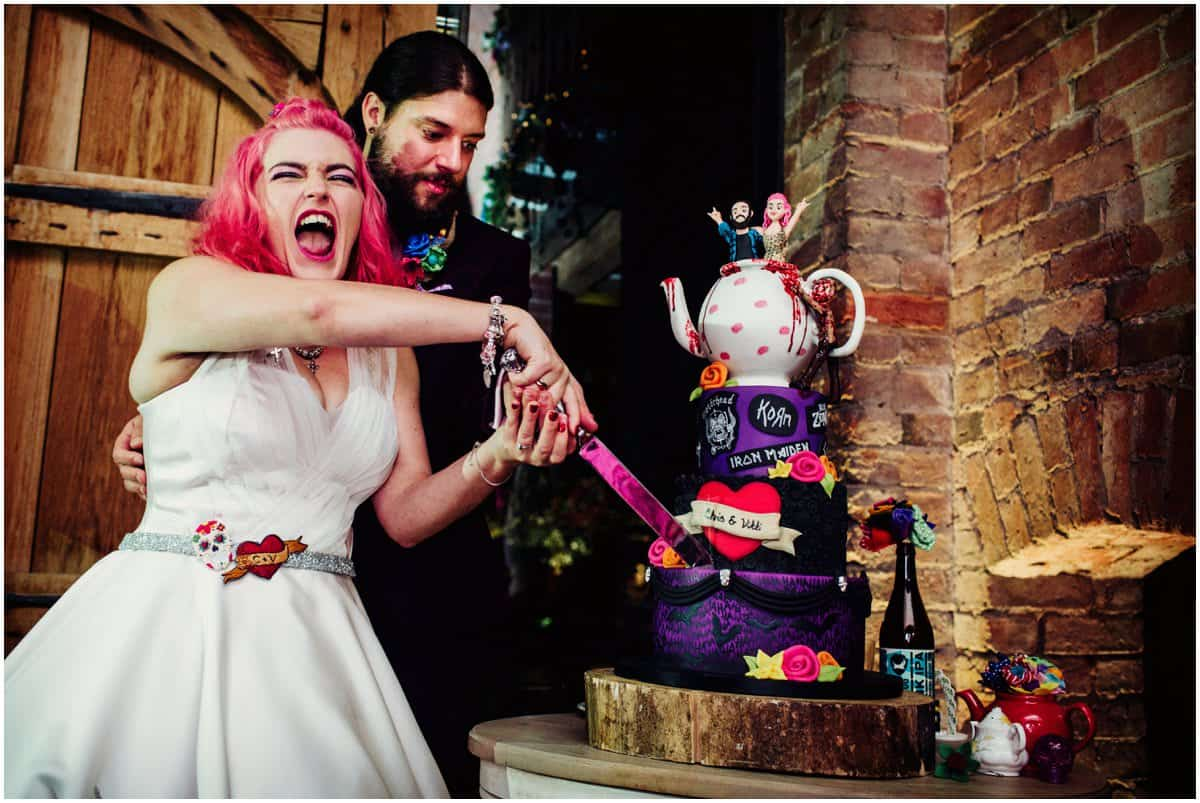 heavy metal wedding cake