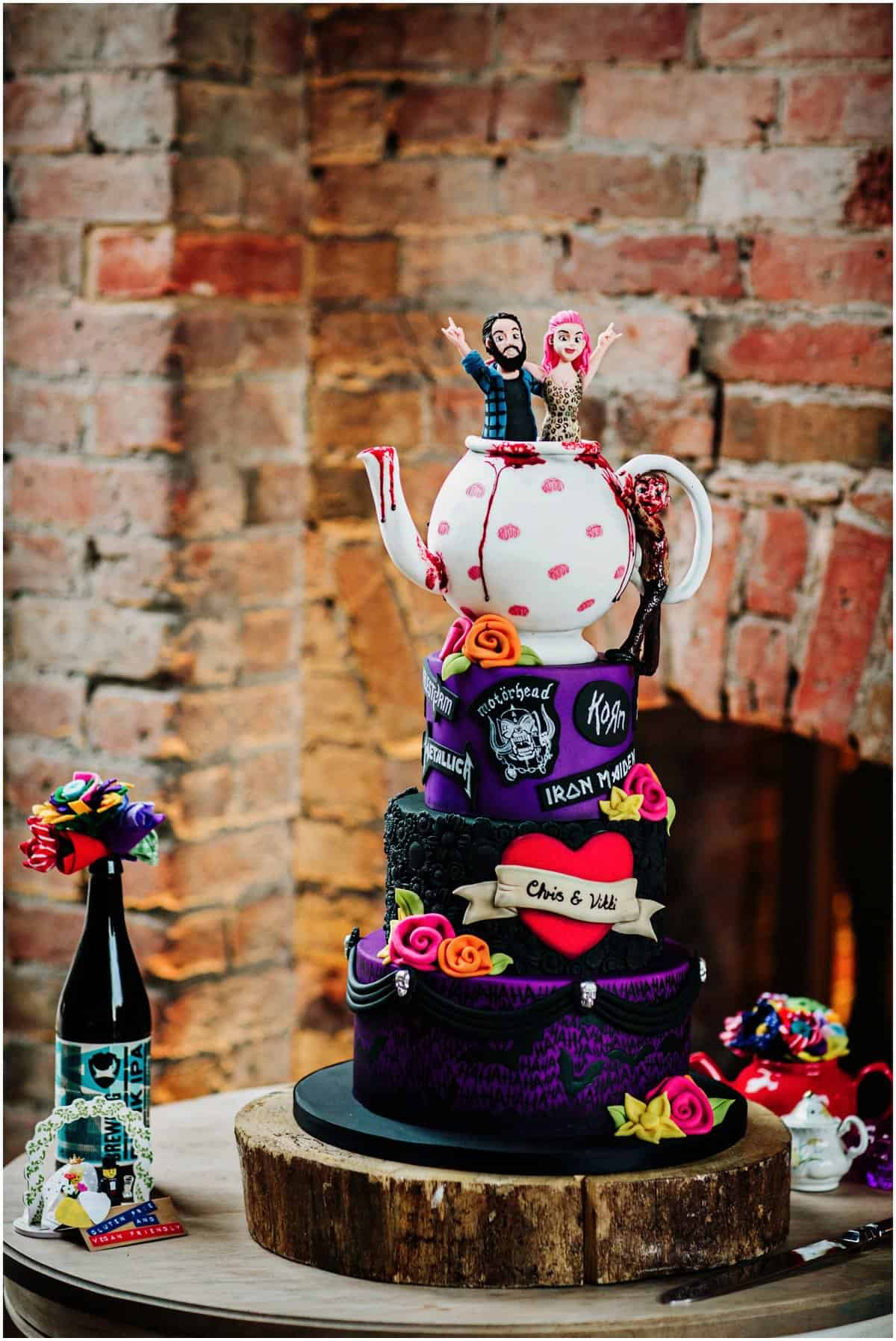 heavy metal wedding cakes
