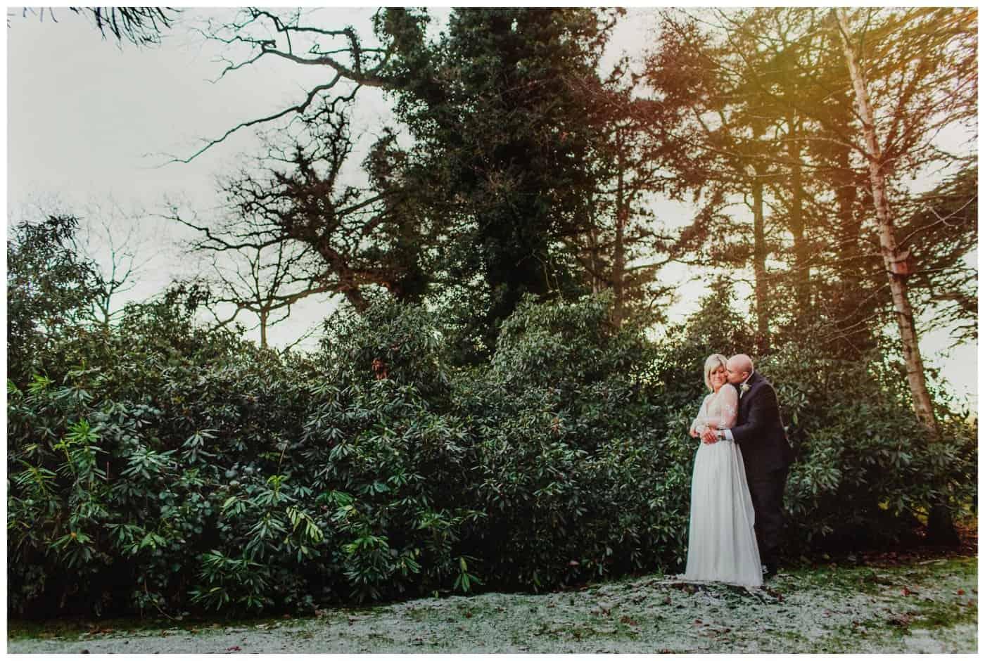 winter wedding iscoyd park