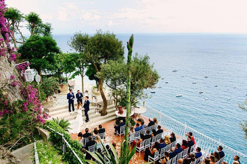 Wedding ceremony in Positano Italy