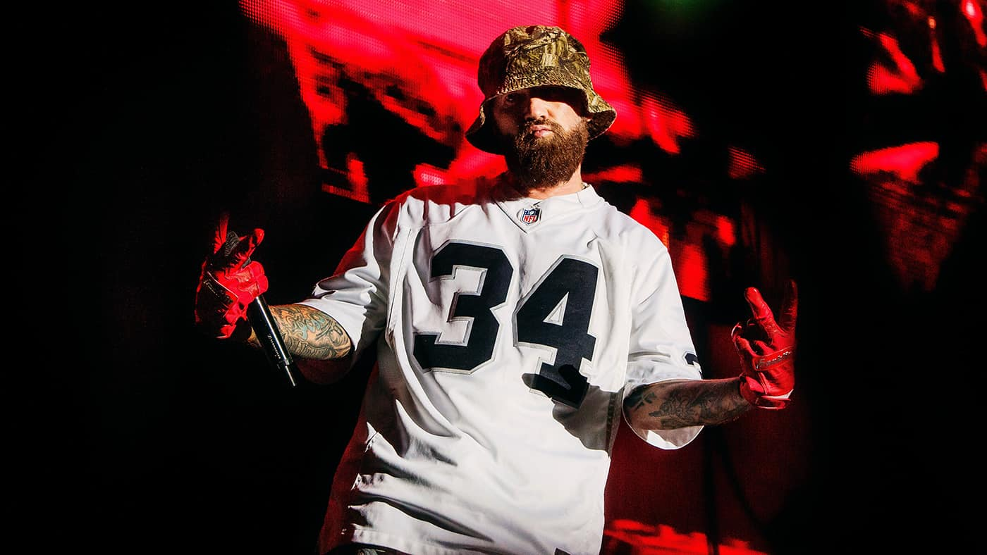Fred Durst of Limp Bizkit on stage in Montreal