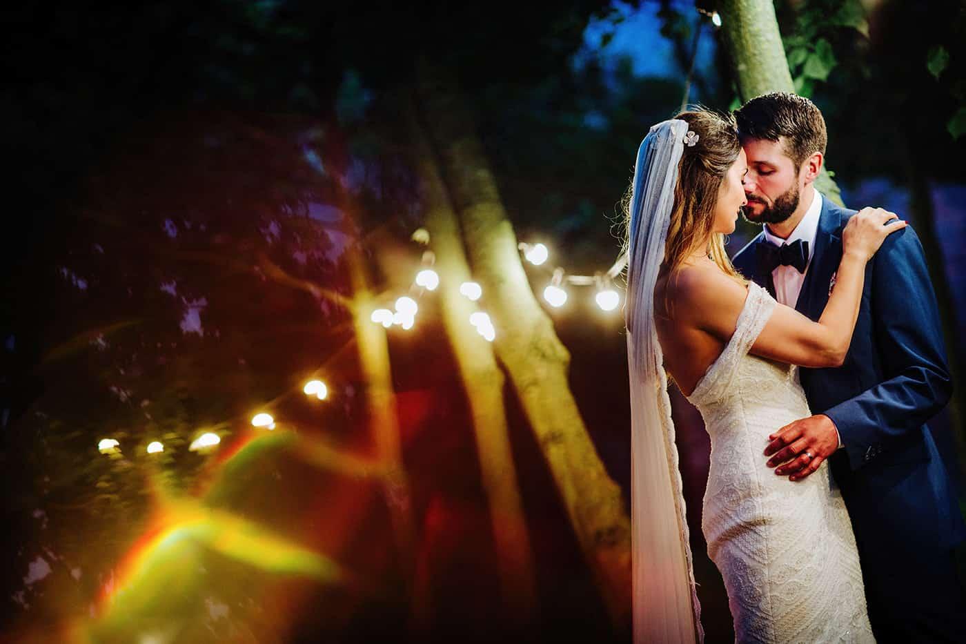 Bride & groom at Shustoke Farm Barns