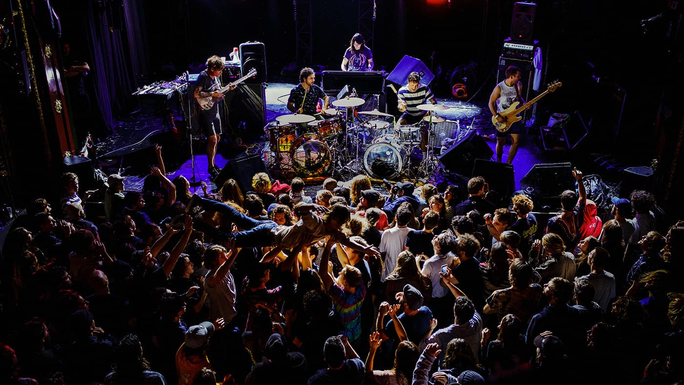 Concert photo of the Oh Sees band in Montreal